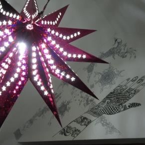 Christmas star outside my room in Kochi.